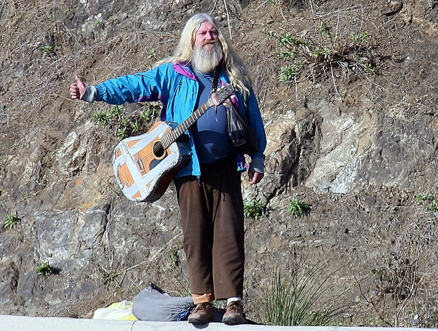 Why would you NOT stop for this man? Guaranteed entertainment on tap!